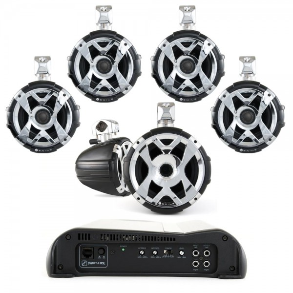 Exile HYBRID Exile XM9 / SXT9Q HLCD Tower Speakers/Javelin Amp Package